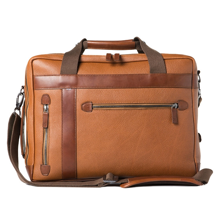 Barber Shop Undercut Convertible Bag Grained Brown Leather
