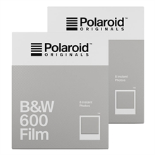 Polaroid Originals B&W Film For 600 White Frame 2-Pack